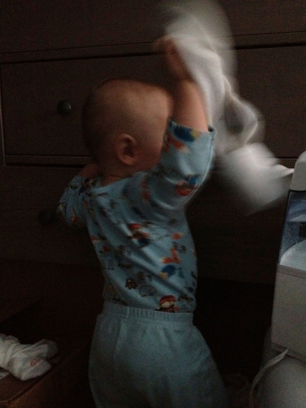 Pulling the socks out of Daddy's drawer
