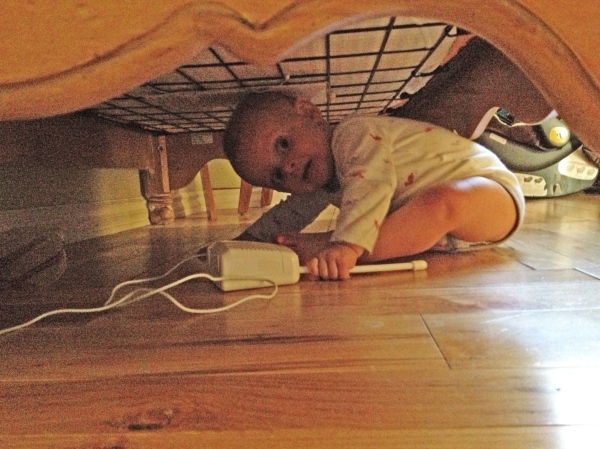 As soon as you could crawl, you had to follow that red light under the crib